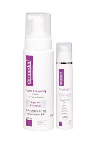 Dermoskin Yüz yıkama köpüğü + Topicalbiotin N Günlük Rutinim (Normal Cilt)