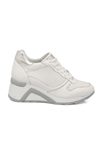 Tergan Hakiki Deri Beyaz Deri Kadın Ayakkabı  K19I1AY64395