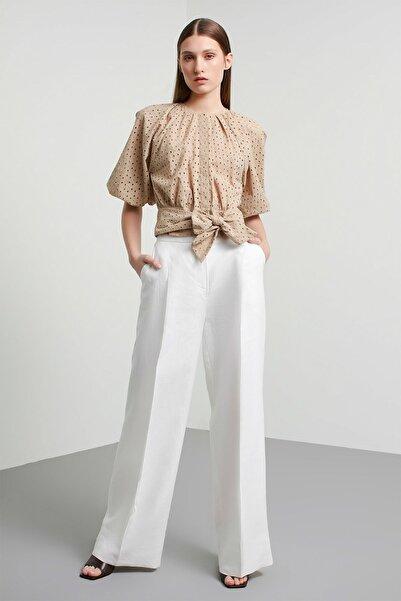Machka Kadın Beyaz Pantolon MS1200003003002