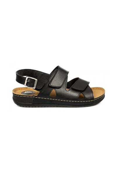 Muya Siyah Erkek Topuk Dikeni Pedli Sandalet 98249