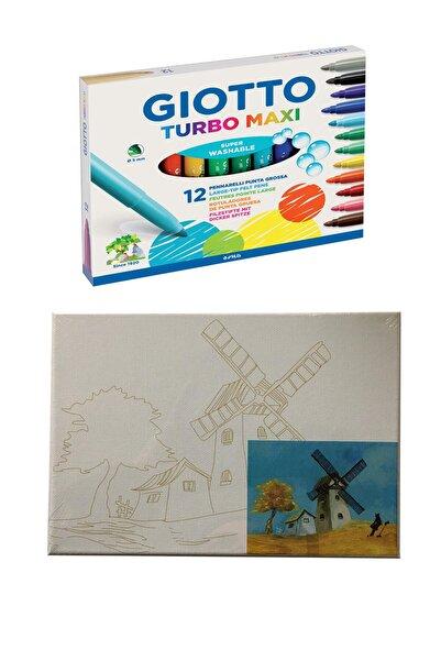 Giotto Turbo Maxi 12 Li Canvas Baskılı Tual 18x24 Cm