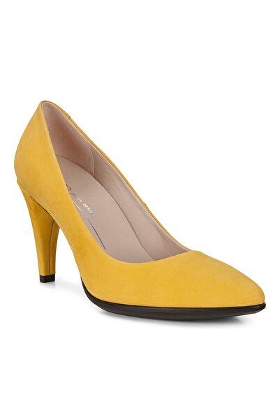 Ecco Kadın Klasik Topuklu Ayakkabı Shape 75 Pointy Merigold Sari 269503
