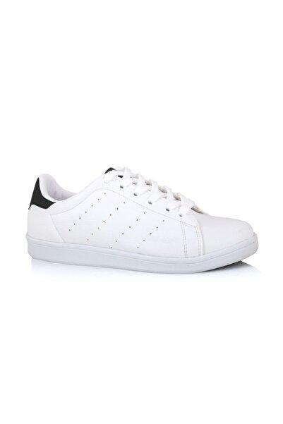 LIG 18-01-80 Siyah - Beyaz Spor Ayakkabısı