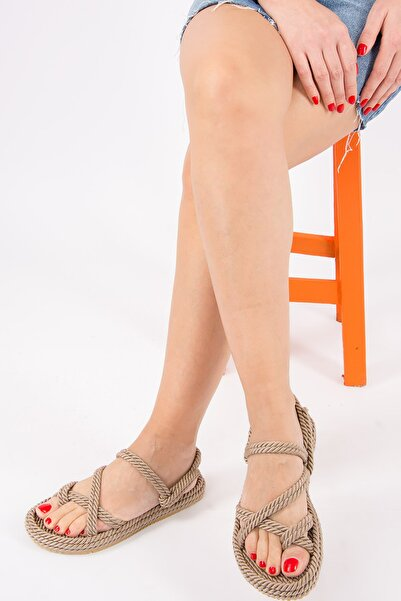 Fox Shoes Vizon Kadın Sandalet H596111604