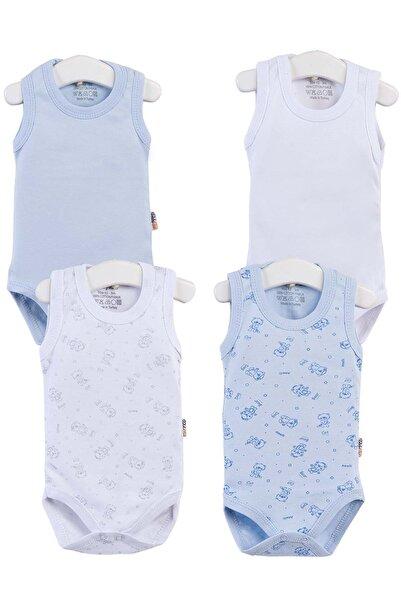 Bebek Baskılı 4lü Zıbın Takım 0-36 Ay PTK20S-401