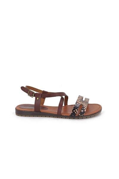 Hobby Kadın Kahve Deri Sandalet Kz1453