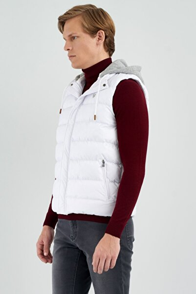 Giovane Gentile Erkek Beyaz Giovane G. Designers Yelek/Mont 309467029100