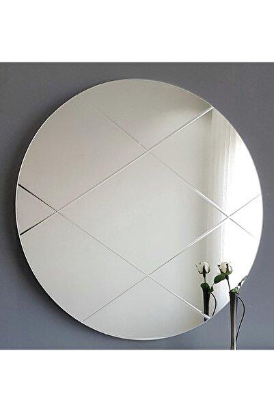 Vivense Neostill Yuvarlak Ayna Baklava Desen 60Cm