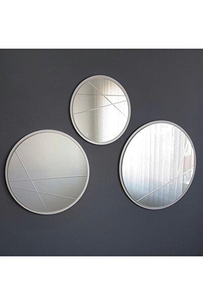 Vivense Neostill 3 Parça Modern Ayna 60-50-40 Cm Yuvarlak