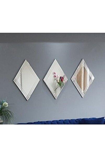 Vivense Neostill 3Lü Dekoratif Duvar Salon Ofis Baklava Desenli Ayna