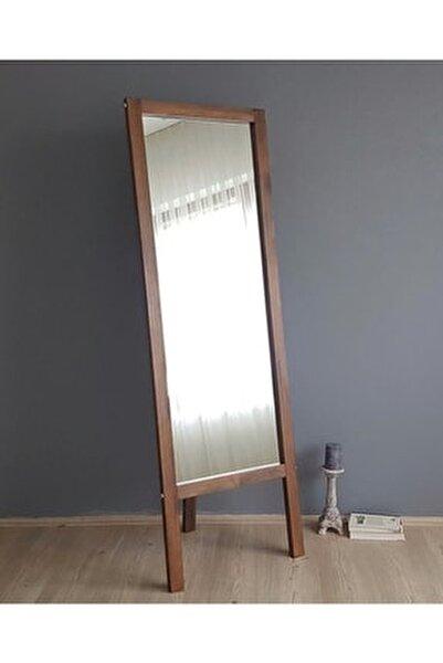 Neostill-Ayaklı Boy Ayna Masif Doğal Ahşap Ceviz 55X170