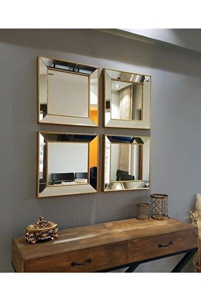 Vivense Neostill 4Lü Dekoratif Duvar Salon Ofis Çerçeveli Ayna A403E