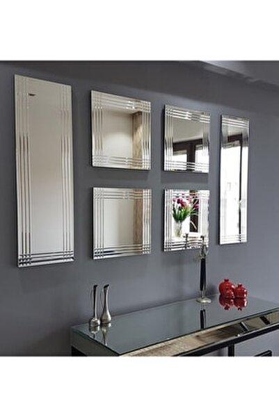 Neostill 6 Lı Dekoratif Salon Duvar Ayna A401A