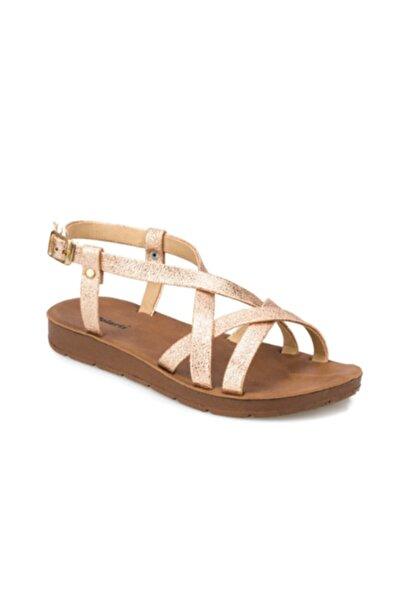 Polaris Altın Renk Tokalı Kadın Sandalet 313611