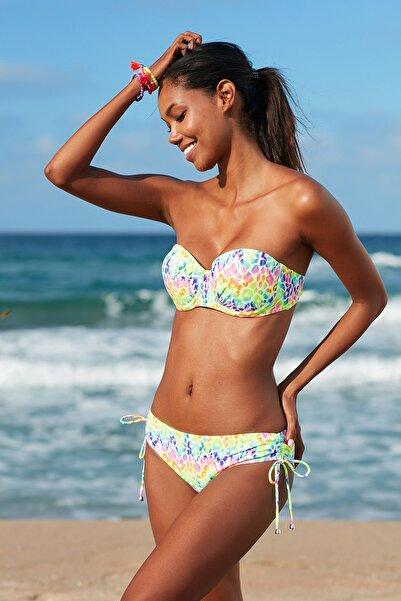 Kadın Straplez Kaplı Bikini Üst 209105-D Leopard