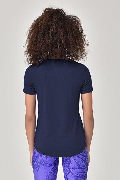 Lacivert Büyük Beden Kadın T-Shirt GS-8131