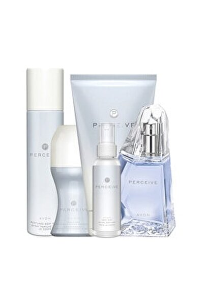 Perceive Kadın Parfüm Losyon Rollon Deodorant Bodymist Set