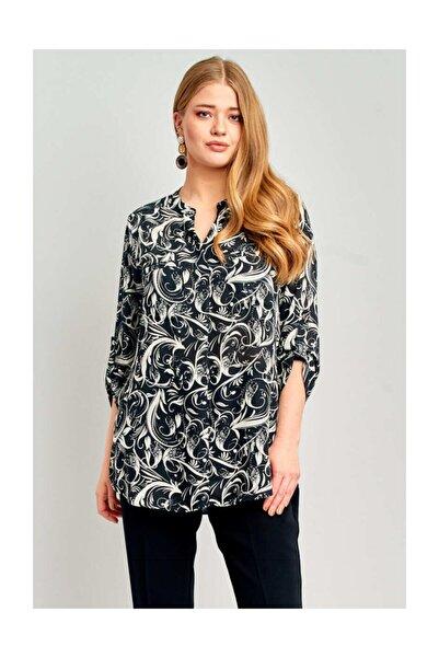 Ekol Kadın Desenli Bluz
