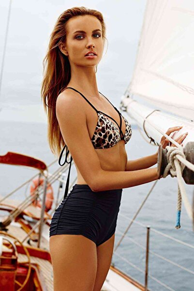Xanded Leopar Desenli Bikini Üstü