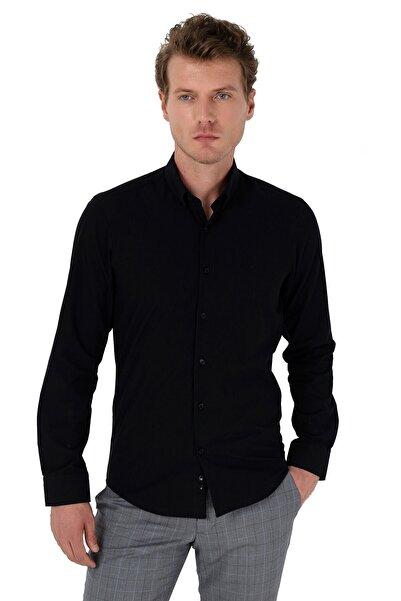 Basic Slimfit Gömlek Siyah