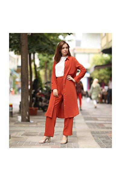 lamelif store Kadın Kap Pantolon Ikili Düğmeli Takım