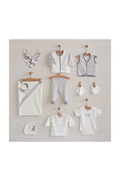 Gri Beyaz Filli Bebek 10 Lu Hastane Çıkış Seti