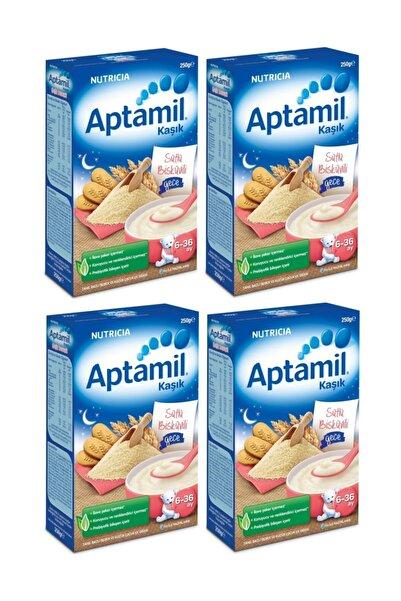 Aptamil Sütlü Bisküvili Gece Kaşık Maması 250 Gr. X 4 Adet