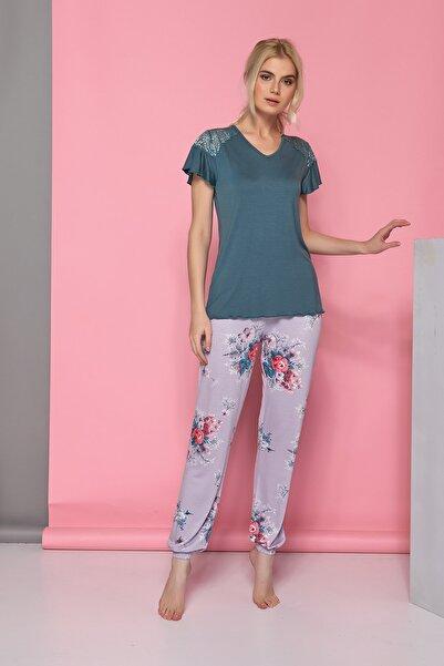 Sevim Kadın Çok Renkli Pijama Takım