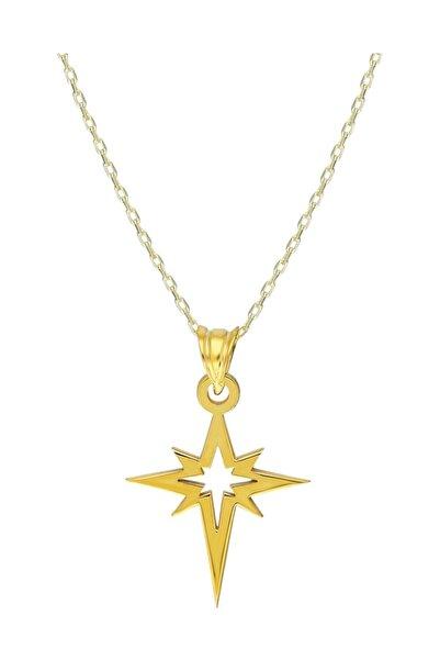Chavin Mini Kutup Yıldızı Gümüş Kadın Kolye Gk060