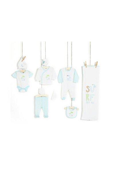 Erkek Bebek Hastane Çıkışı Zıbın Seti 10lu 10174