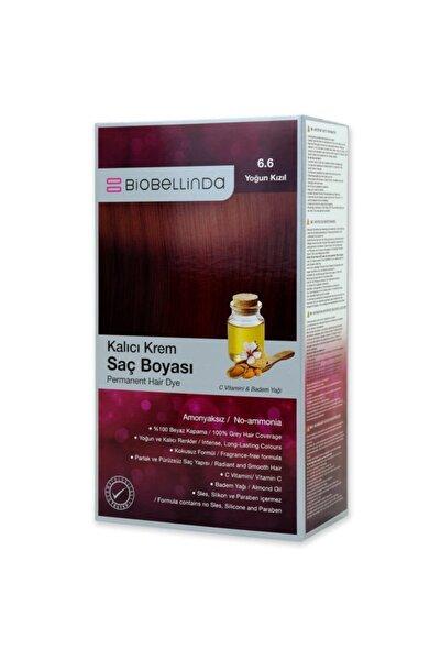 BioBellinda Amonyaksız Ve Kokusuz Kalıcı Krem Saç Boyası - 6.6 Yoğun Kızıl
