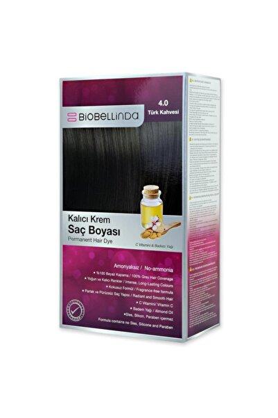 BioBellinda Amonyaksız Ve Kokusuz Kalıcı Krem Saç Boyası - 4.0 Türk Kahvesi