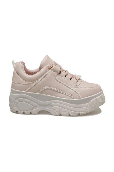 Butigo 20s-498 Pudra Kadın Kalın Taban Sneaker Spor Ayakkabı