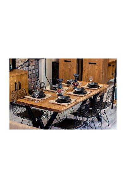NT Concept Ntconcept Masif Ağaç Yemek Masası Takımı