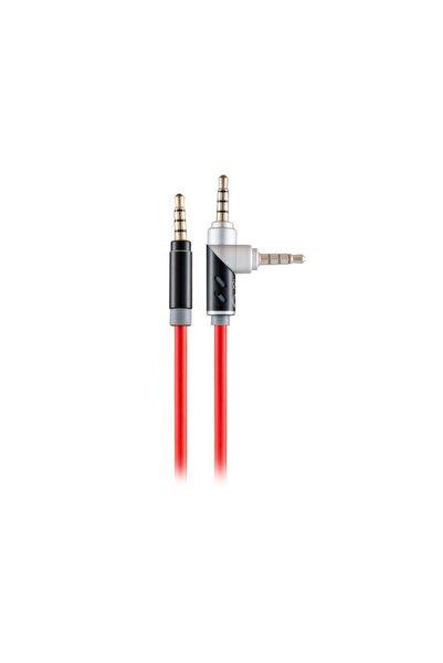 MF PRODUCT 0209 Dönebilen Uçlu Aux Kablo Kırmızı