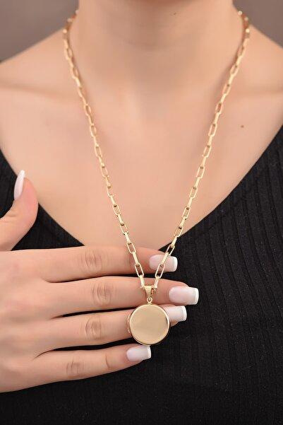 Ayyıldız Kuyumculuk Kapaklı Altın Madalyon Kolye