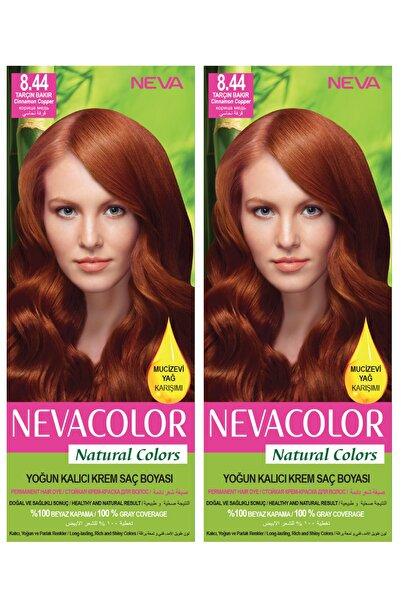 Neva Color 2'li Natural Colors 8.44 Tarçın Bakır - Kalıcı Krem Saç Boyası Seti
