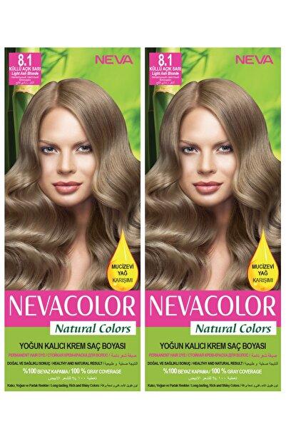 Neva Color 2'li Natural Colors 8.1 Küllü Açık Sarı - Kalıcı Krem Saç Boyası Seti