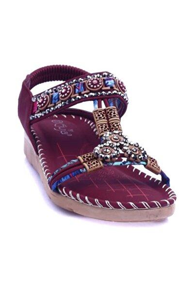 Guja Bordo Kadın Sandalet 20Y150-10