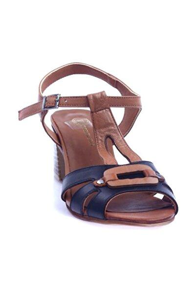 Mammamia Siyah Faber\/Taba Faber Kadın Sandalet D20YS-1570
