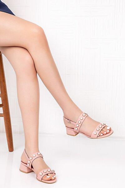 Gondol Inci Taşlı Topuklu Ayakkabı
