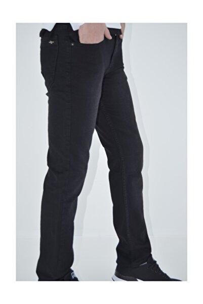 Siyah Çok Az Taşlamalı Dar Kesim Erkek Kot Pantolon