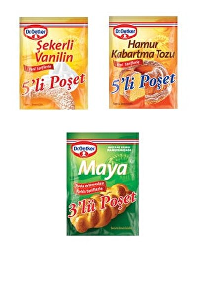 Ekonomik Paket (şekerli Vanilin + Kabartma Tozu + Instant Maya)
