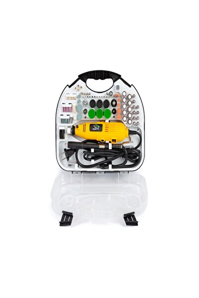 İşkur Makina 211 Parça Devir Ayarlı Çantalı Gravür Hobi Taşlama Oyma Seti