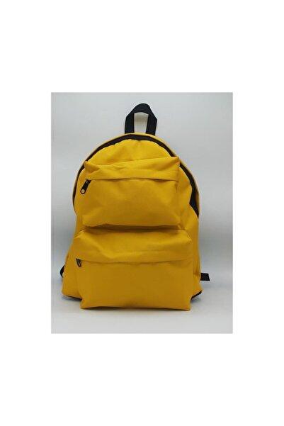 Köstebek Sarı Renk Çift Cepli Yeni Okul Sırt Çantası