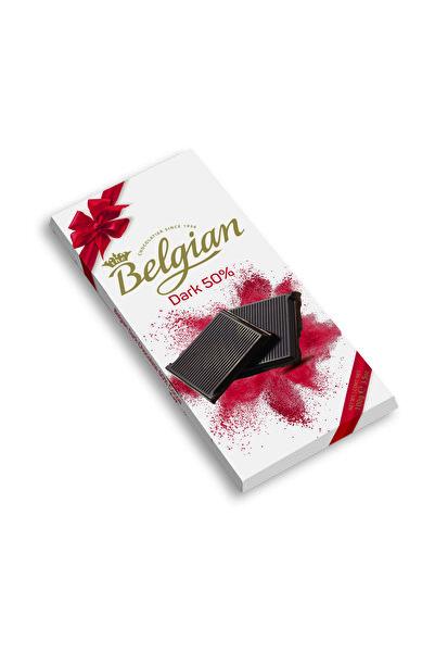 BELGIAN %50 Bitter Belçika  çikolatası 100g