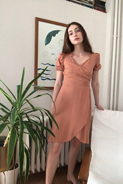 Gül Kurusu Büzgü Detaylı Elbise TWOSS20EL2683