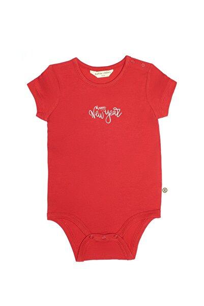 Katia&Bony 2'li Yılbaşı Bebek Body - Kırmızı Ekru