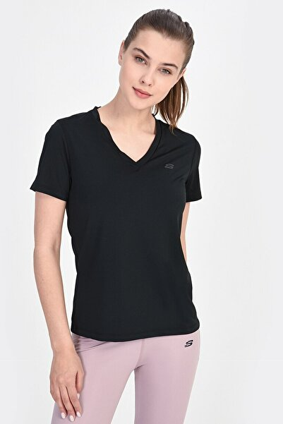 SKECHERS Kadın T-Shirt - Performance Tops W Performance Crew Neck  - S201251-001