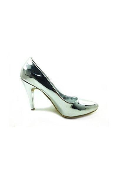 Almera Topuklu Ayakkabı - Gümüş-Ayna - 700
